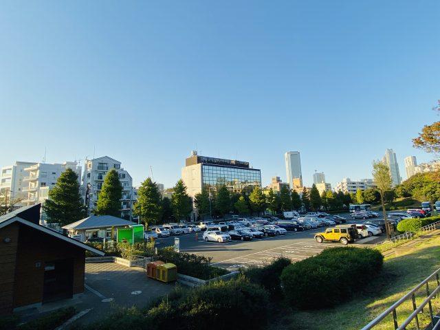 代々木公園駐車場の全体の様子
